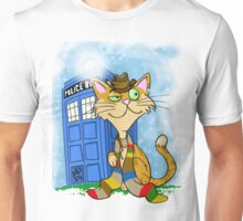 The Cat and the Tardis Unisex T-Shirt