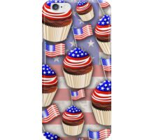 USA Flag Cupcakes Pattern iPhone Case/Skin