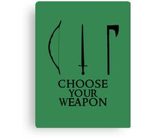 Lord of the Rings: Choose Your Weapon Canvas Print