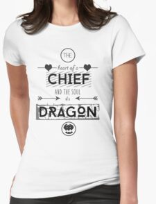 """How To Train Your Dragon 2 """"Heart of a Chief"""" Womens Fitted T-Shirt"""