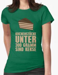 Kuchenstücke unter 300 Gramm sind Kekse Womens Fitted T-Shirt