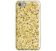 Faux Printed Gold Glitter iPhone Case/Skin