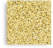 Faux Printed Gold Glitter Canvas Print