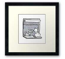 Window Cats Framed Print