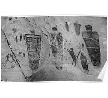 Horseshoe Canyon Great Gallery Group Pictographs Poster