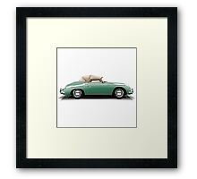 Porsche 356A Speedster (green) Framed Print