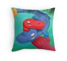 Alligators Are Cute Throw Pillow