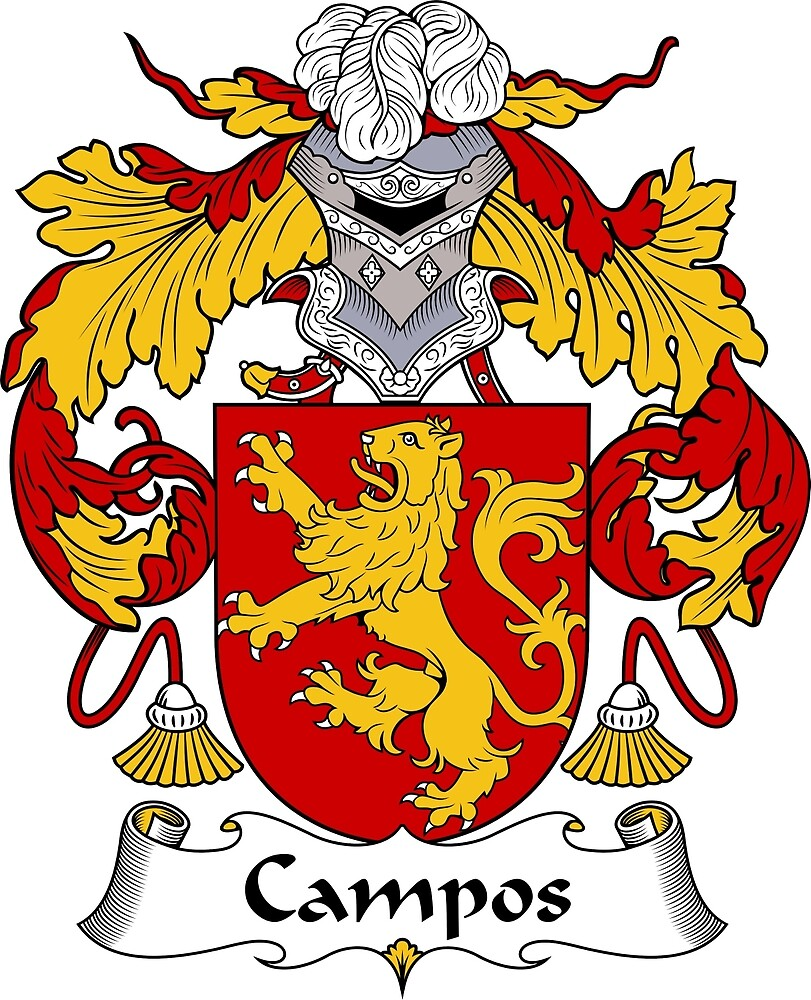 Campos Coat of Arms/Family Crest by William Martin