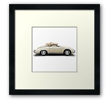 Porsche 356A Speedster (beigh) Framed Print
