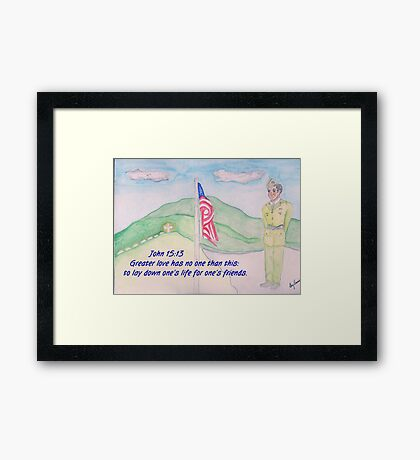 For our Fallen Soldiers Framed Print