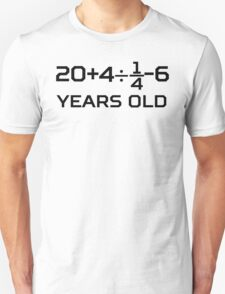 30th Birthday Algebra Equation Unisex T-Shirt