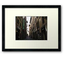 Florence Street Scene Framed Print