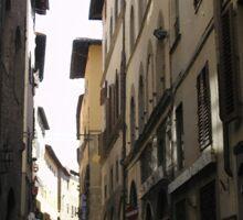 Florence Street Scene Sticker