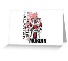 Scientist Salarian Greeting Card
