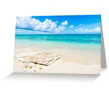 White Sand Greeting Card