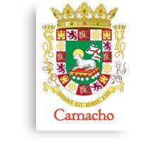 Camacho Shield of Puerto Rico Canvas Print