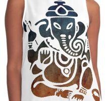 Shri Ganesha Watercolor Design Contrast Tank