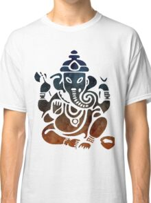 Shri Ganesha Watercolor Design Classic T-Shirt
