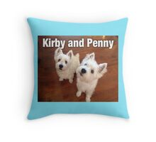 Kirby and Penny Throw Pillow