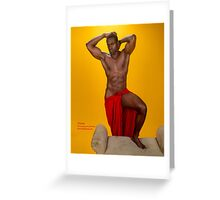 Orane Greek God in Red 1 Greeting Card