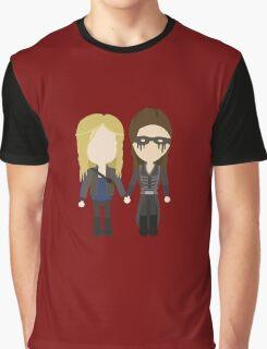 Love Is Weakness - Clarke & Lexa Stylized Print Graphic T-Shirt