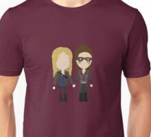 Love Is Weakness - Clarke & Lexa Stylized Print Unisex T-Shirt