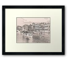 York in pencil and tint Framed Print