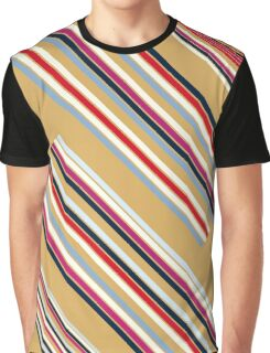 Beautiful Brown Colorful Stripes Design Collection Graphic T-Shirt