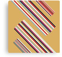 Beautiful Brown Colorful Stripes Design Collection Canvas Print