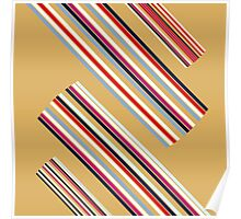 Beautiful Brown Colorful Stripes Design Collection Poster
