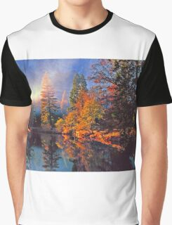 MISTY MORNING MERCED RIVER Graphic T-Shirt
