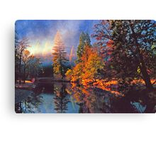 MISTY MORNING MERCED RIVER Canvas Print