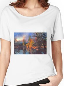MISTY MORNING MERCED RIVER Women's Relaxed Fit T-Shirt