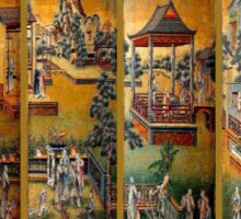 """""""QING DYNASTY"""" Chinese Ancient Town Print Sticker"""