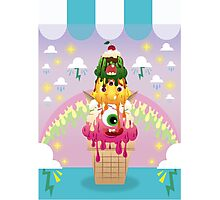 cute ice cream monster Photographic Print