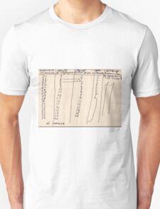 Russian Period Graph Unisex T-Shirt