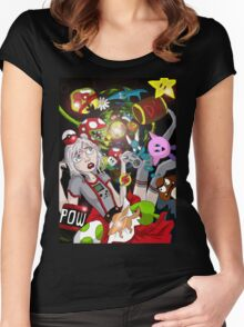 Alice In Video Land Women's Fitted Scoop T-Shirt