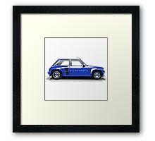 Renault 5 Turbo (blue) Framed Print