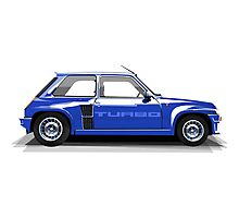 Renault 5 Turbo (blue) Photographic Print