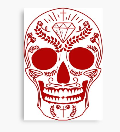 red mexican skull Canvas Print