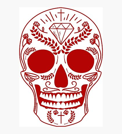 red mexican skull Photographic Print