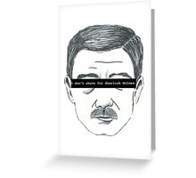 The 'Stache Stays Greeting Card