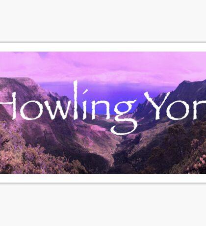 Howling Yoni Sticker