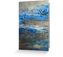 Contemporary Coastal Fine Art Painting by Holly Anderson DUNE Greeting Card
