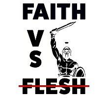 Faith VS Flesh Photographic Print
