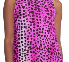 Pink and Black Spotty Abstract Contrast Tank