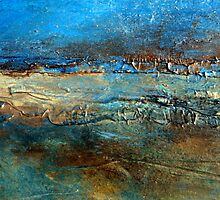 Abstract Seascape Painting Pier 39 Artist Holly Anderson by hollyanderson