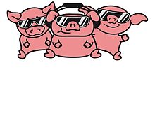3 friends party DJ team pigs by Style-O-Mat
