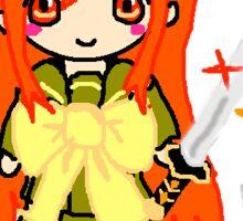 Fiery Sword Girl Sticker