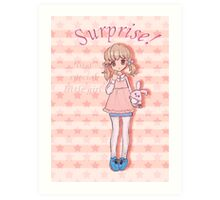 Surprise! To A Special Little Girl Art Print